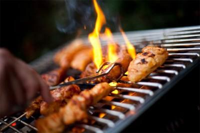 Правила приготовления  продуктов на барбекю, готовим на углях.