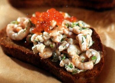 Салат с креветками для бутербродов или тарталеток