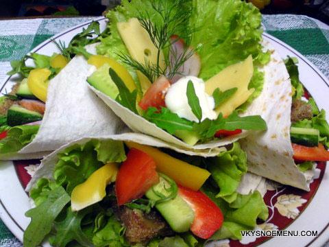 овощи в лаваше