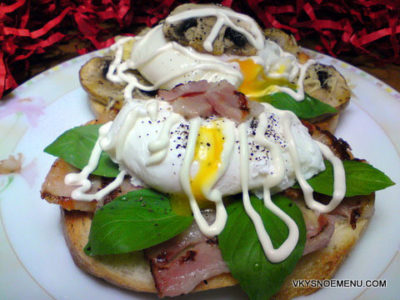 Бутерброды с яйцами-пашот