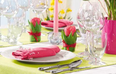 Основные правила сервировки стола к празднику
