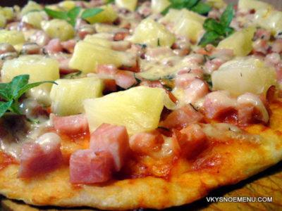 Домашний рецепт Гавайской пиццы