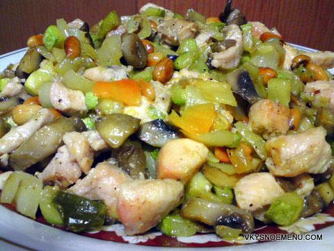 курица с овощами по-азиатски