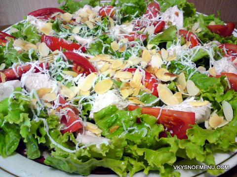 рецепты легких салатов рецепты с фото