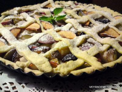 Песочный пирог с летними фруктами