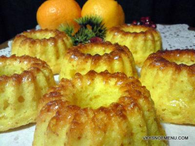Вкусные мандариновые кексы к Новому году