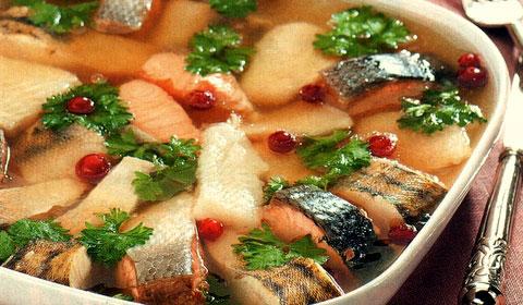 рыбное заливное рецепт с фото