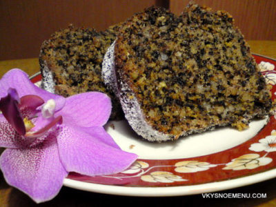 Рецепт лимонного кекса с орехами на оливковом масле
