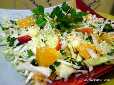 Рецепты салатов из молодой капусты