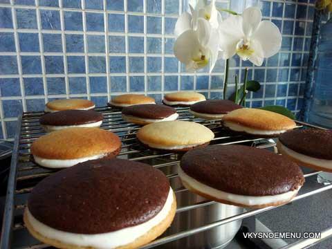 пирожные с творожным кремом