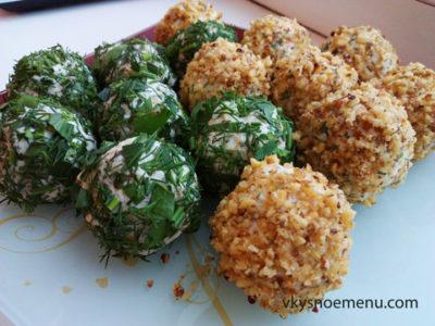 Полезная закуска к празднику: сырные шарики с чесноком