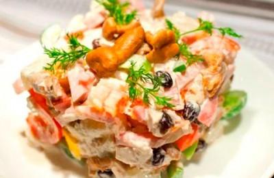 Рецепты салатов с курицей и грибами